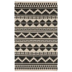 Surya Frontier Territory Feather Gray/Black Hand Woven Rug