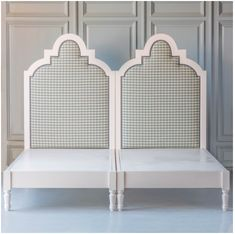 Gaby's Guest Beds from The Beautiful Bed Company can be pushed together to form one king bed or pulled apart for two Twin beds. Perfect for a guest room. Finished in any color or fabric in the world. Steel Bed Frame, Two Twin Beds, Bed Company, Guest Bed, Guest Room, Buy Bed, King Headboard, Upholstered Beds, Bed Plans
