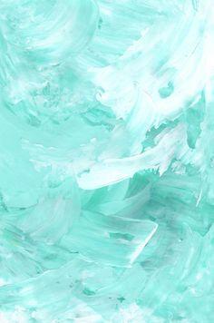 """Boredom Becomes Me"" acrylic on paper by Cecilie Karoline. Aqua dream."