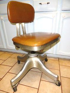 vintage mid century industrial shaw walker naugahyde aluminum office