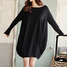 Buy 'Jolly Club – Long-Sleeve Plain Loose-Fit Dress' with Free Shipping at YesStyle.ca. Browse and shop for thousands of Asian fashion items from China and more!