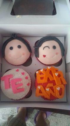 Te extrano #cupcakesdivertidos #tortaspersonalizadas