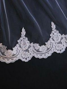 Cathedral Length Lace Mantilla Wedding Bridal Veil 118'' | Ieie's Bridal Dress Boutique