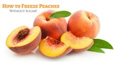 There is nothing like a fresh peach in the summer! But you can come close if you know how to freeze peaches without sugar! This easy way only takes minutes! Photo Fruit, Best Peach Cobbler, Tapas, How To Peel Peaches, Apricot Fruit, Ripe Peach, Power To The People, Frozen Fruit, Recipe Images