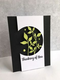 I used the Simon Says Stamp Circle Leaves die to make a card...This die is SOOOOO pretty!! I die cut the die on white cardstock and used eclipse tape in pieces all around the circle, and then sponged