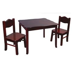 Classic Espresso Table and Chair Set