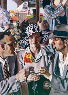 Herbert Badham, Travellers, 1933 @@@....http://www.pinterest.com/reen79/art-i-wish-i-owned/.
