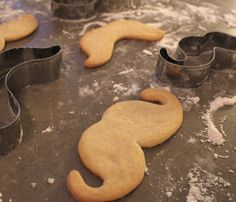 Mustache Cookie Cutter Set by Fuzzy Ink // the #mustache trend of 2013 is hilarious... You can get anything mustache-themed right now! #designtrend