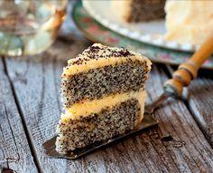 Cake with Poppy Seeds and Orange-  prajitura cu mac