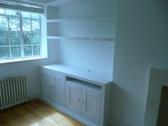 Double alcove cupboard with floating shelves (ealing)