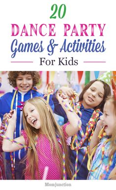 Here are some dance games for kids which are perfect for the party. We've also listed a few activities, and party ideas for your little ones to rock.Read on