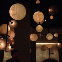 The lighting at The Pump Room could inspire a wicked chandelier.