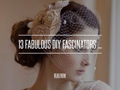 13 Fabulous DIY Fascinators ... - Hair [ more at http://hair.allwomenstalk.com ] For those looking to get some pretty crafts done this weekend, I give you a list of fab and stylish DIY fascinators. A fascinator, for those who are not familiar with the accessory, is a headpiece that is often made of flowers, lace, feathers, and jewels. They are beautiful vintage-inspired hair accessories that are easy to make and even easier to customize. So ge... #Hair #Fabric #Fascinator #Veil #Elastic…