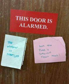 This door is alarmed.