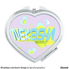 Blox3dnyc.com heart1 design travel mirror