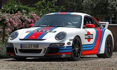 Martini-style Racing Livery by CAM SHAFT for the Porsche 911 GT3 17