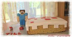 Silvia's Tortenträume: Minecraft Kuchen Minecraft-Kuchen Steve Geburtstag Kinder Kindergeburtstag Tutorial Steve