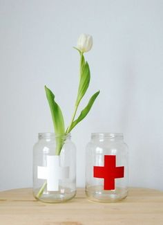 Upcycling jars to vases and storage containers - northstory.ca