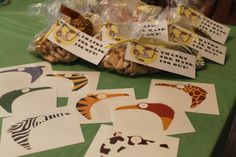 Zoo party favors and tons of other simple and wonderful zoo party ideas!