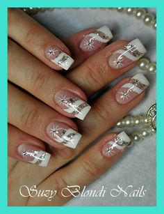 &&@&& Xmas Nails, Bling Nails, Holiday Nails, Elegant Nails, Stylish Nails, Holiday Nail Designs, Nail Art Designs, Cute Nails, Pretty Nails
