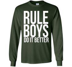 Rule Boys Do It Better - Funny Tshirt for Men - Funny Jokes