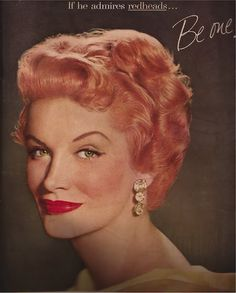 Why not be a vintage ginger? #redhead #vintage #1950s #hair #ad