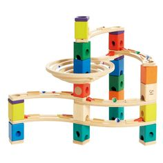 Pista per biglie in legno Quadrilla Whirlpool - Giocattoli per bambini di 4 anni