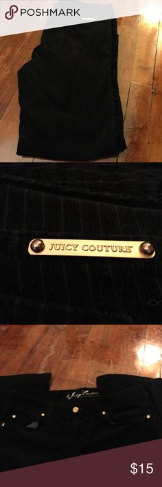 Black Corduroy Juicy Couture Pants MAKE AN OFFER Black Juicy Couture Corduroy pants! Size 30. In good condition! Make an offer or bundle to save even more! Juicy Couture Pants Boot Cut & Flare