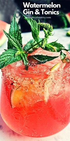 Due to the fact that watermelon season has officially began, this week's gin and tonic is inspired by the flavors of a juicy watermelon coated in Tajin seasoning: it's sweet, sour and has the lovliest level of spice. This drink will be perfect for your next summer barbecue, it's refreshing, bright and crisp. #Drinks #Cocktails #CocktailHour #CocktailoftheDay #Craftcocktails #Masterofmixes #Barista #Cocktaillover #DeliciousDrinks #Mixology #SummerDrinks #SummerCocktails #RefreshingDrinks