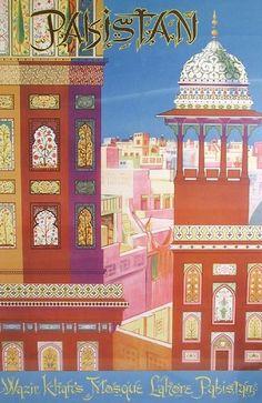 Vintage Travel Posters, Pakistan.