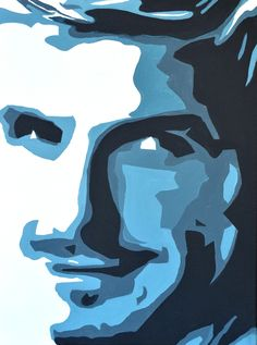 Portrait of David Beckham by David Mack. Acrylic on canvas
