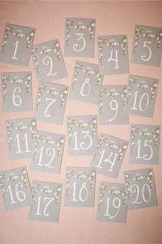 product | Aster Table Numbers from BHLDN