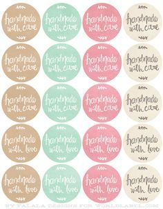 Free Printables HandDrawn labels for Handmade goods.You can find Printable labels and more on our website.Free Printables HandDrawn labels for Handmade goods. Soap Labels, Soap Packaging, Stickers Kawaii, Bake Sale, Free Printables, Free Printable Labels Templates, Labels Free, Label Templates, Gift Tags