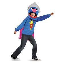Super Grover Sesame Street Blue Monster Deluxe Halloween Child Costume