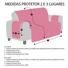 Protetor de Sofá 2 lugares Elegance Vermelho - ShopCama Diy Sofa Cover, Couch Covers, Cushion Covers, Sewing Hacks, Sewing Tutorials, Sewing Projects, Sewing Patterns, Envelope Cover, Sofa Protector