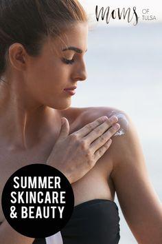 Talking summer skincare and beauty with Tulsa Esthetician Kacie Mapp - http://momsoftulsa.com/summer-skincare/