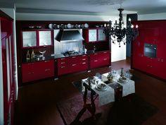 cucina rossa arredamento cucina : ... casa #home #madeinitaly #cucina #scavolini #rosso #moderno #modern