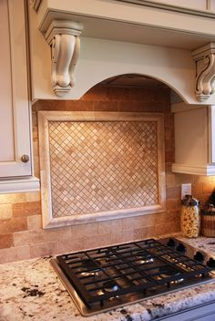 Cool backsplash in Dream Finders' Willowcove Townhome model. #neutrals #strong #granite #cabinetry