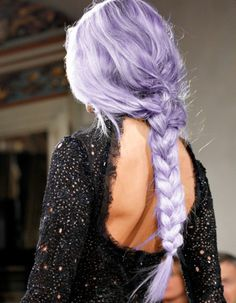 Gorgeous - my 2 fave hair things - purple and braid!!