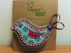 Little Bird Felt Brooch by PeppersCrafts on Etsy, £8.00