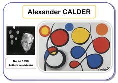 Alexander Calder - Portrait d'artiste Alexander Calder, Artists For Kids, Art For Kids, Art Montessori, Art Worksheets, Ecole Art, Unicorn Art, Oeuvre D'art, Oeuvres