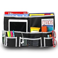 Fancii 10 Pocket Bedside Caddy  Hanging Storage Organizer for Books Phones Tablets Accessory and TV Remote  Best for Headboards Bed Rails Dorm Rooms Bunk Beds Apartments Bathrooms  Travel ** Want to know more, click on the image-affiliate link. #KidsBook Shelves