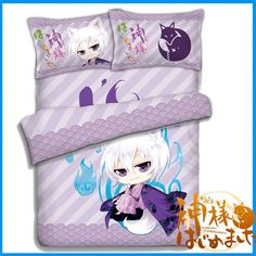 Hot Anime Kamisama Kiss Tomoe Otaku Bed Duvet Cover Set Quilt Bedding 4 Pcs Set…