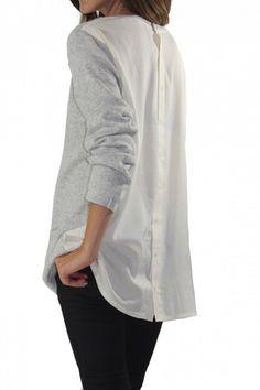 Boyfriend button back shirt