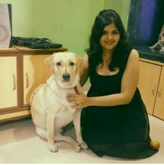 Muffin is very attached to Kiran, she doesn't leave her side in fact she sleeps also next to her. http://www.dogspot.in/muffin-brings-sweetness-her-life/  Every morning Kiran wakes up to her licks on her hand. That makes it a blissful start to the day.