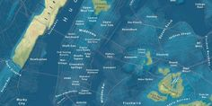 This doomsday map by Jeffery Linn shows what NYC would look like if sea levels rose just 100 feet.