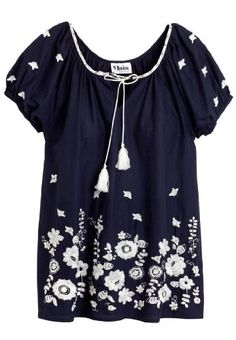 Amazon.com: Woman Within Plus Size Blouse, peasant style with lavish embroidery: Clothing Woman Within, Diva Fashion, Plus Size Blouses, Handmade Clothes, Clothing Ideas, Floral Tops, Embroidery, Amazon, My Style