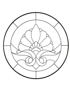 Stained Glass... also for mosaics!   coloring pages