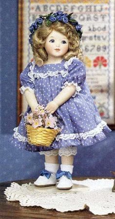 """Bessie Pease Gutmann, Illustrator, """"Virginia"""", collectible doll by The Hamilton Collection, circa unknown."""