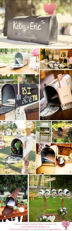 Definitely want one of these..... Now how to personalize it?  American Vintage Wedding Mailbox Inspiration